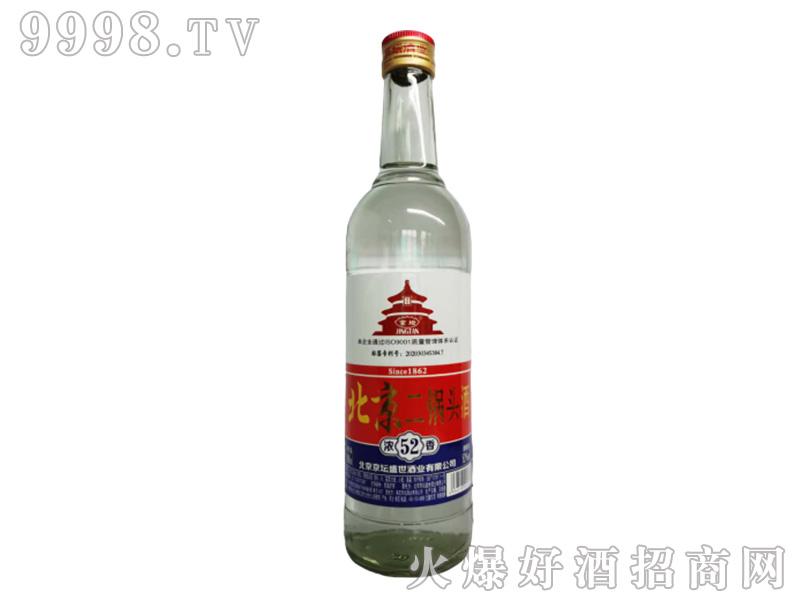 京坛北京二锅头酒(白瓶)浓香型白酒【52°500ml】