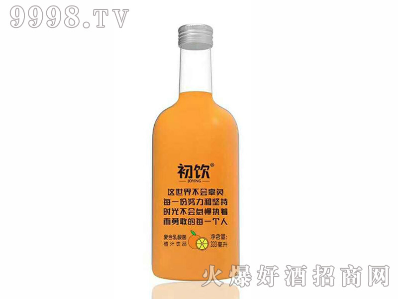 初饮复合甜橙饮品玻璃瓶【333ml】