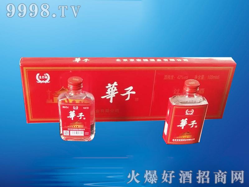 京宏福・华子酒清香型白酒【42°100mlx6】