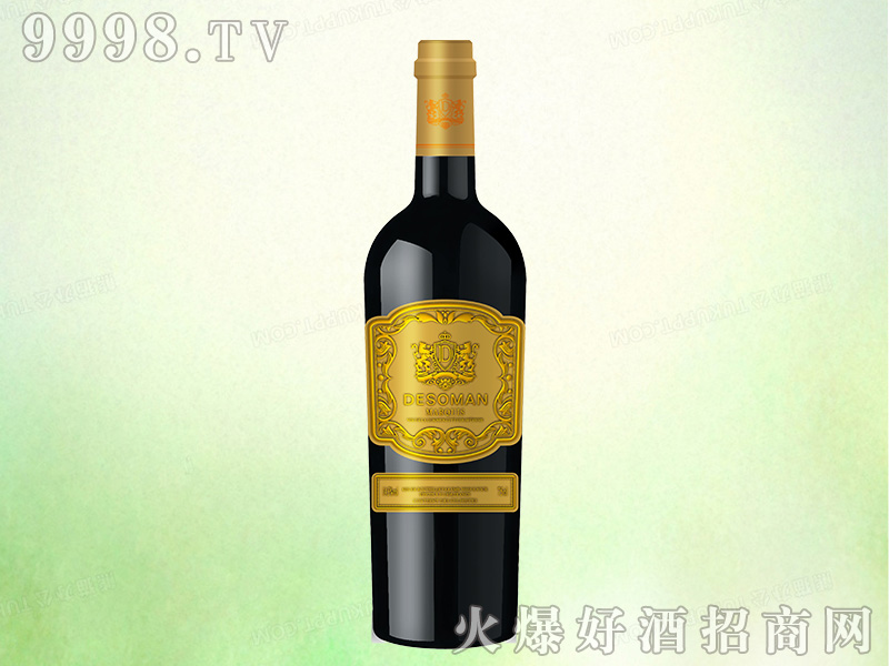 法国德索曼侯爵干红葡萄酒【14.5度750ml】