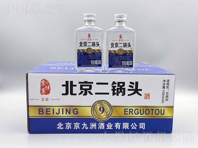 京仕尊北京二锅头9浓香型白酒【42度100ml】