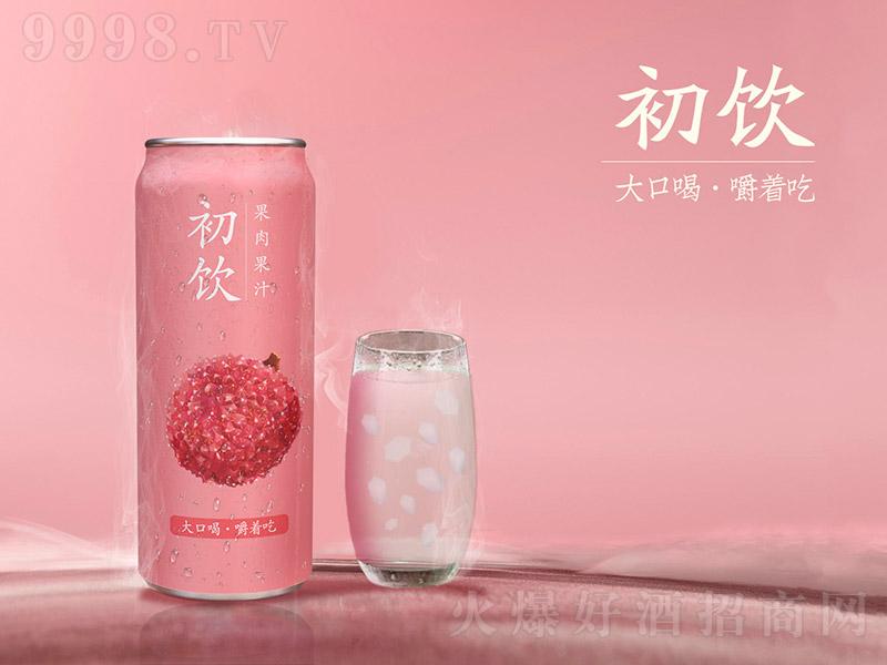 初饮荔枝味果肉果汁500ml