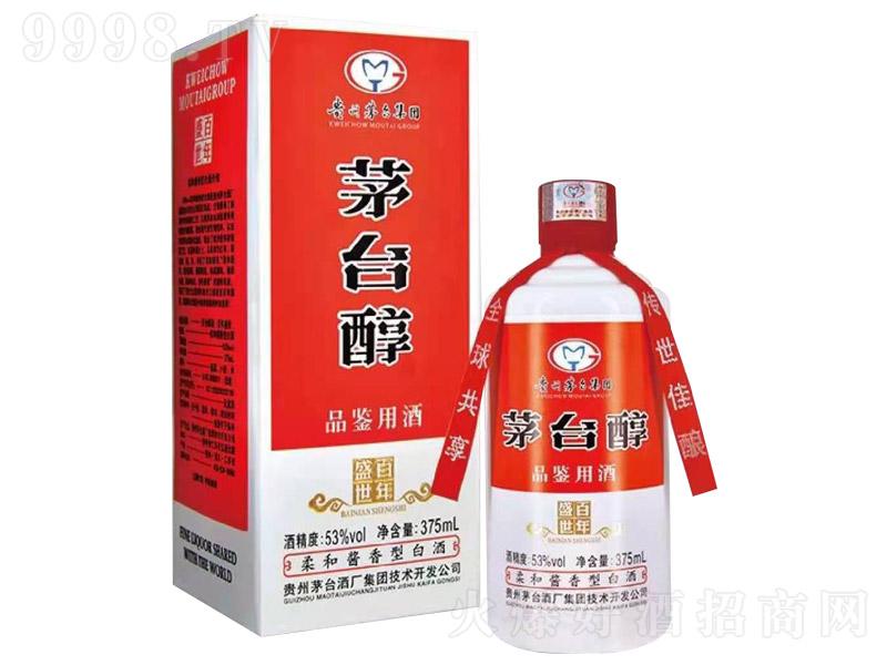 茅台醇酒盛世百年柔和酱香型白酒【53°375ml】