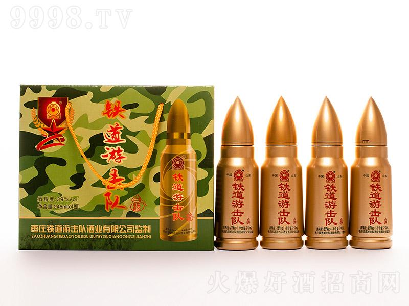 铁道游击队酒中子弹瓶型浓香型白酒【39°245ml】