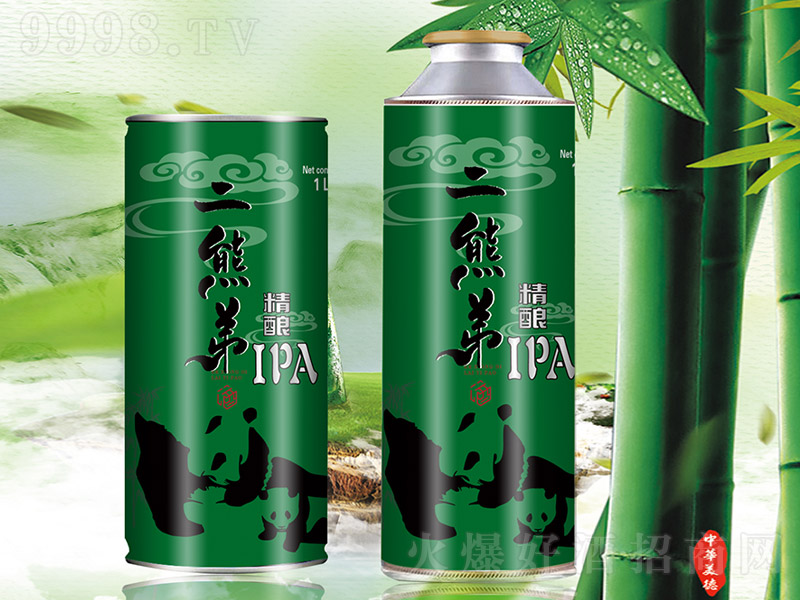 二熊弟精酿IPA啤酒1L