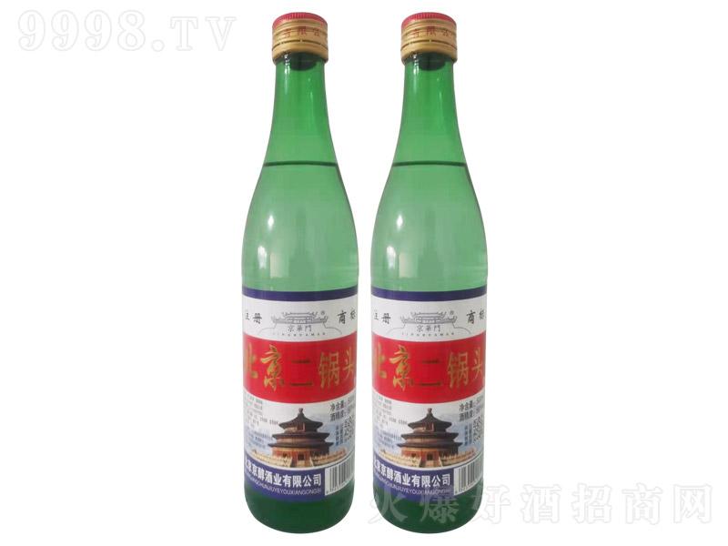 京华门北京二锅头酒绿瓶清香型白酒【56°500ml】