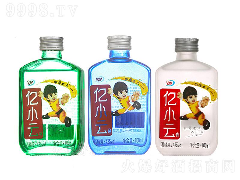 亿小云酒青春小酒浓香型白酒绿蓝粉瓶组合图【42度100ml】