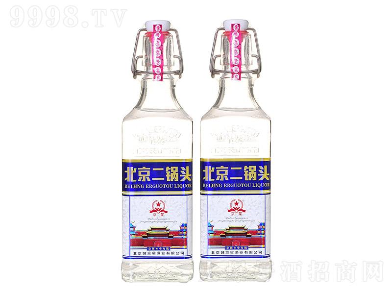 京星北京二锅头清香型白酒京派小方瓶蓝标【42度500ml】