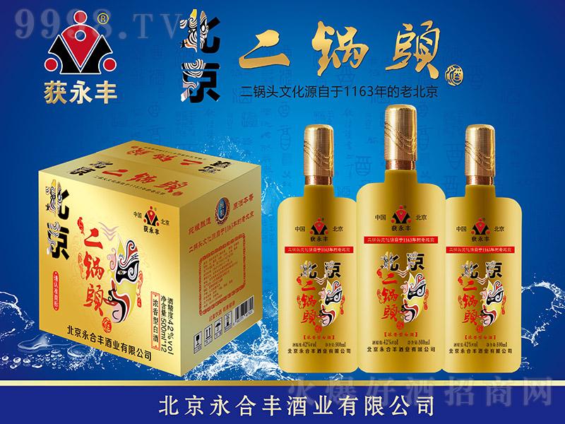 获永丰北京二锅头酒脸谱黄瓶 浓香型白酒【42° 500ml×12】