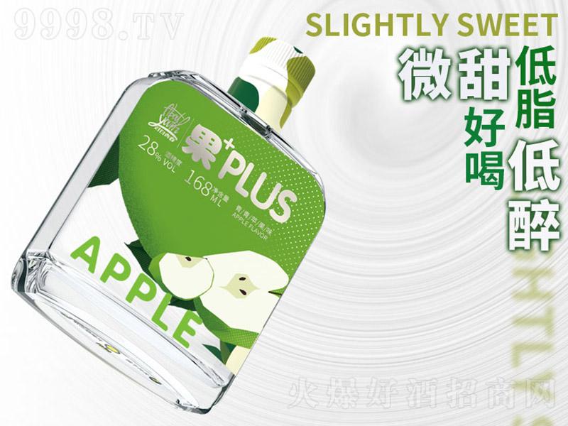 对白青春酒新浓香.苹果味【28度168ml】