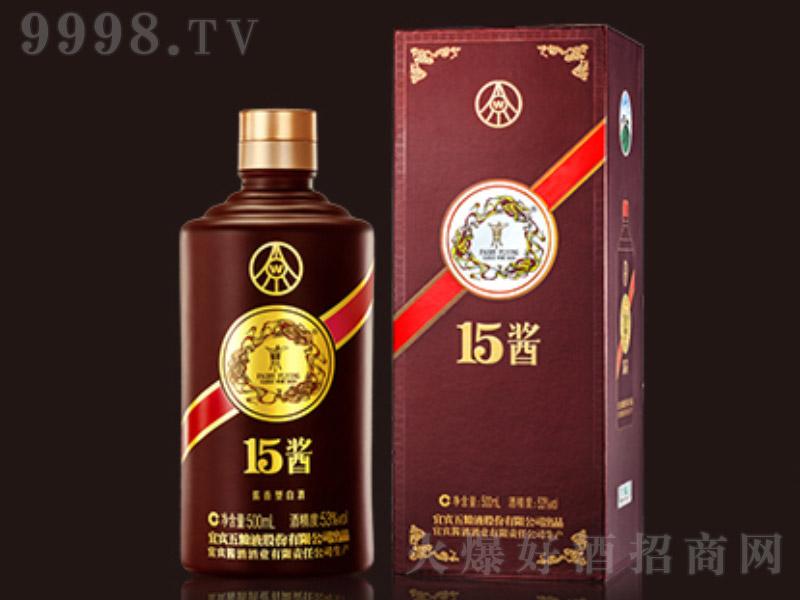 五粮液15酱手工版酱香型白酒【53度500ml】